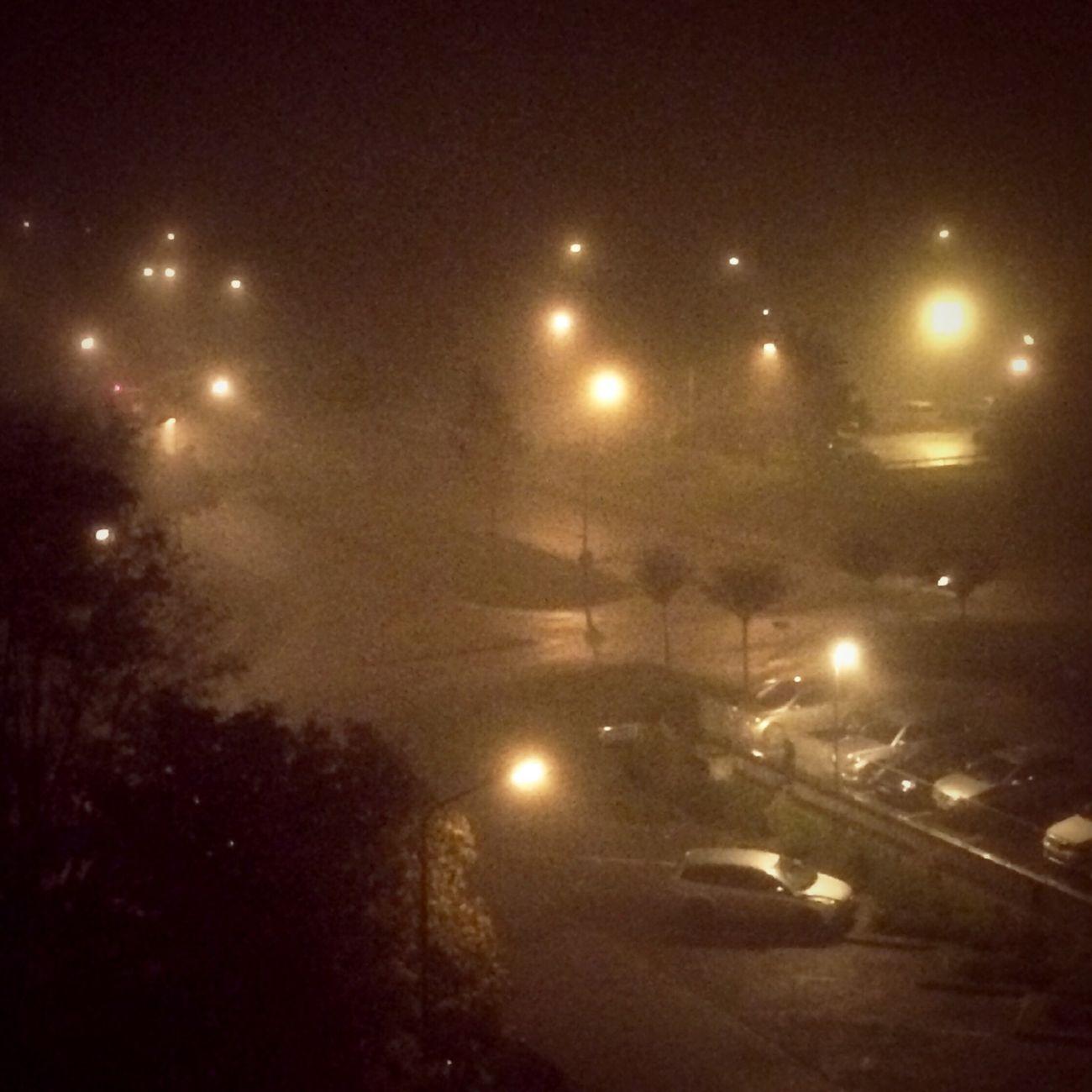 Fog No Filter City Lights Night