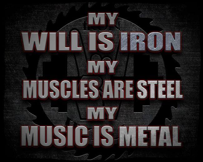 Iron Will Motivation Bodybuilding Inspiration Fitness Fitness Training Metal