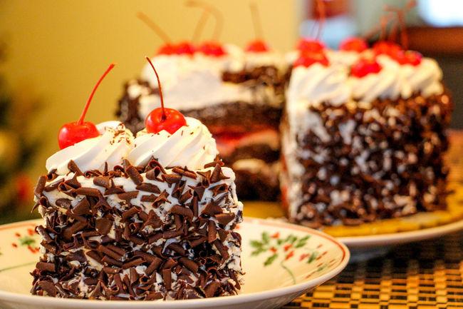 Holiday Desserts Blackforestcake Redribbon Pinoydessert
