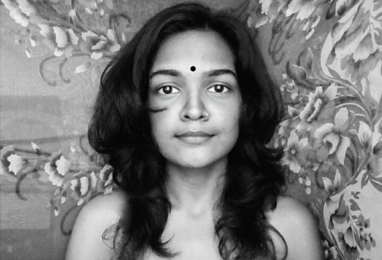 Only Women One Person One Woman Only Portrait Selfportrait Human Body Part Beautiful Woman Headshot Indian Pottu Bindi India EyeEm Best Shots Art Is Everywhere EyeEmBestPics EyeEmNewHere EyeEm Diversity Black Background Black And White Portrait Black And White Collection  Black&white EyeEm Diversity The Portraitist - 2017 EyeEm Awards The Portraitist - 2017 EyeEm Awards
