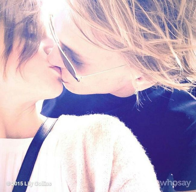 They are the love Jamily Jamie Campbell Bower Lily Collins Love Raise Again Perfect Beautiful People Love Them Sweet Kiss Lovelovelove∞