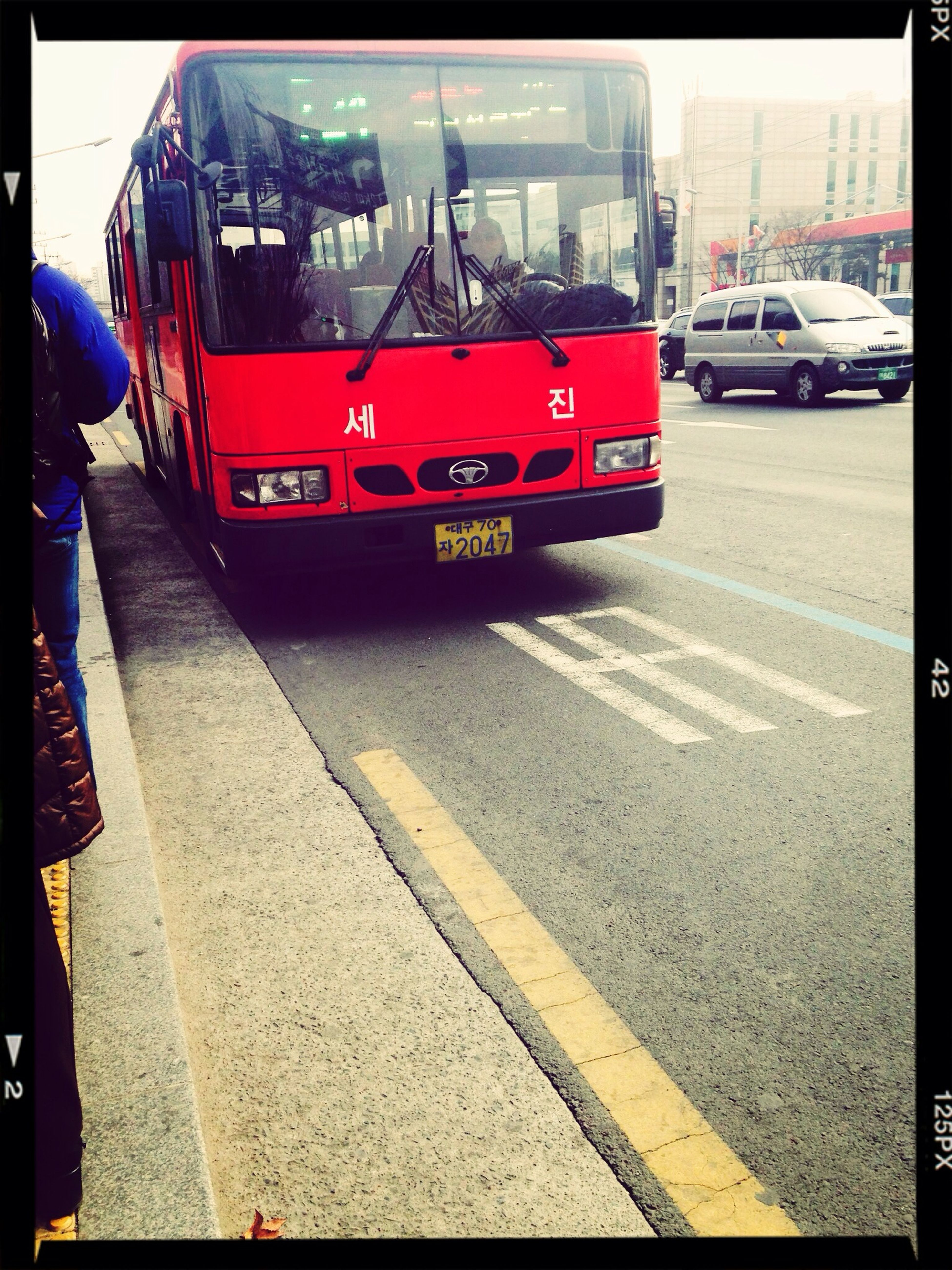 Have you ever seen the RED bus in Daegu?? It's a little special to me. :) Walking Around
