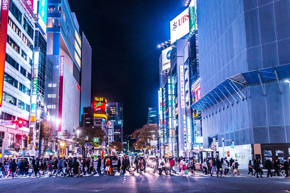 Beautiful stock photos of japan, travel destinations, illuminated, city, city street