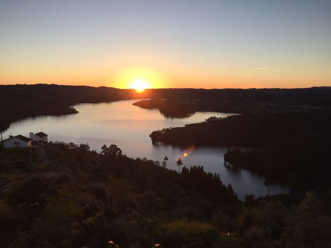 Water Sunset Beauty In Nature Tranquility Travel Destinations Sun Abrantes