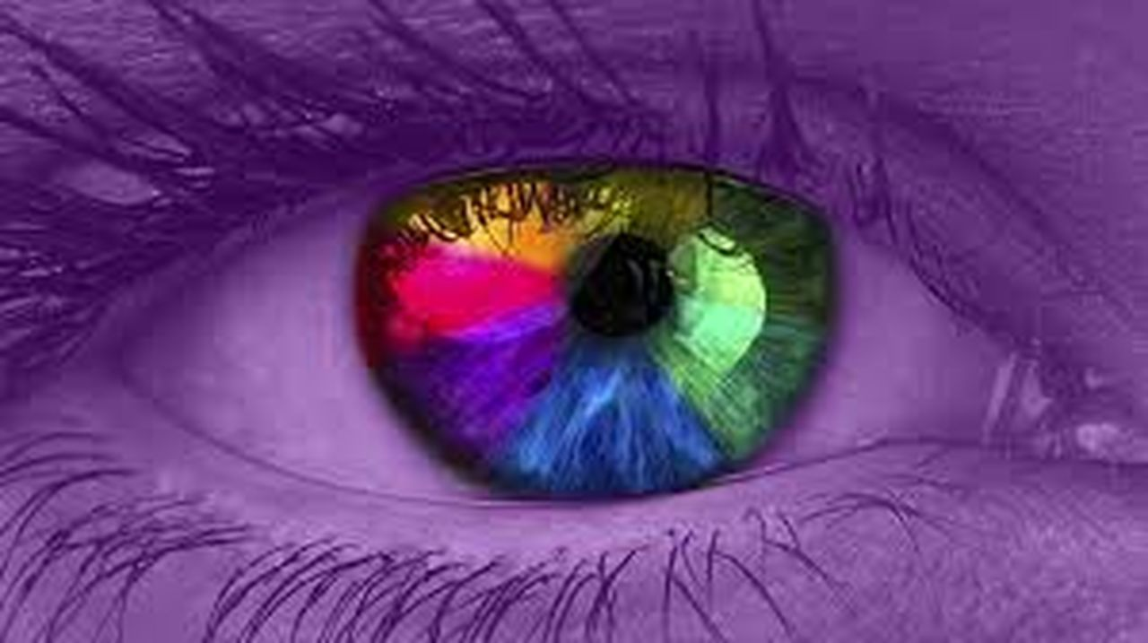 human eye, human body part, eyesight, eyelash, purple, eyeball, iris - eye, looking at camera, sensory perception, one person, green color, one woman only, adult, portrait, people, close-up, adults only, only women, one young woman only, eyebrow, young adult, outdoors, day