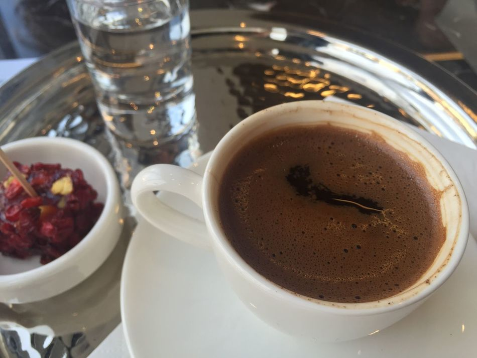 Beverage Cafe Close-up Coffee Cup Cup Of Coffee Day Drink Food And Drink Greek Greek Coffee  No People Table Tablet Turkish Coffee Turkish Culture