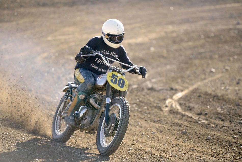Adventure Biker Competition Crash Helmet Day Extreme Sports Lifestyles Motocross Motorcycle One Person Outdoors Real People Riding Scrambler Speed Sport Sports Race Triumph Triumphmotorcycles