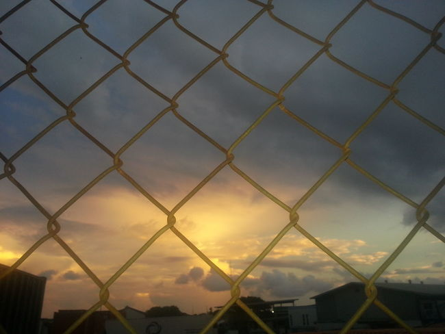 Real Sunset Sky Chainlink Fence Cloud Scenics Nature Majestic Tranquility Amateurphotography Taking Photos Simplethings Perfect Relaxing Cloudscape No People Day Different Tranquility Justamazing Learning Beautiful Day Perfect Moment Perfect View