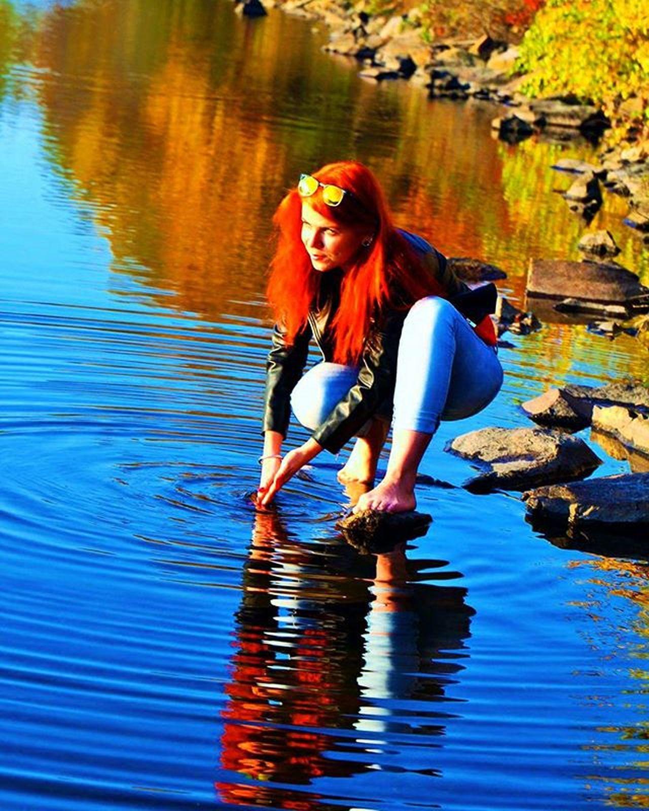Lake Autumn Nature Slovakia Košice Water Picoftheday Photooftheday Redhair Sunset Sun Dnescestujem Forest Slovakgirls Compositionkillerz Composition Photo Instagood Smile Thisisslovakia Naturelovers Passionpassport Rayban