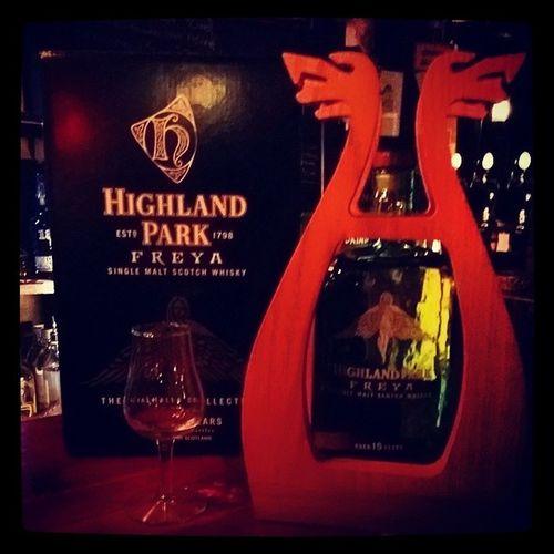 Provsmakning av Highland Park Freya. HighlandPark Freya