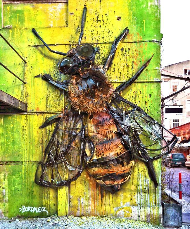 Bee by Bordalo Taking Photos Check This Out Hello World Walking Around Enjoying Life EyeEmBestPics The Purist (no Edit, No Filter) EyeEm Best Sellers Graffiti Graffiti Art Taking Photos My Perspective Perspectives Getty Images Urban Reflections EyeEm Best Shots Urbanphotography Graffiti Wall Urbanexploration EyeEm Best Shots - The Streets EyeEm Animal Lover Art, Drawing, Creativity