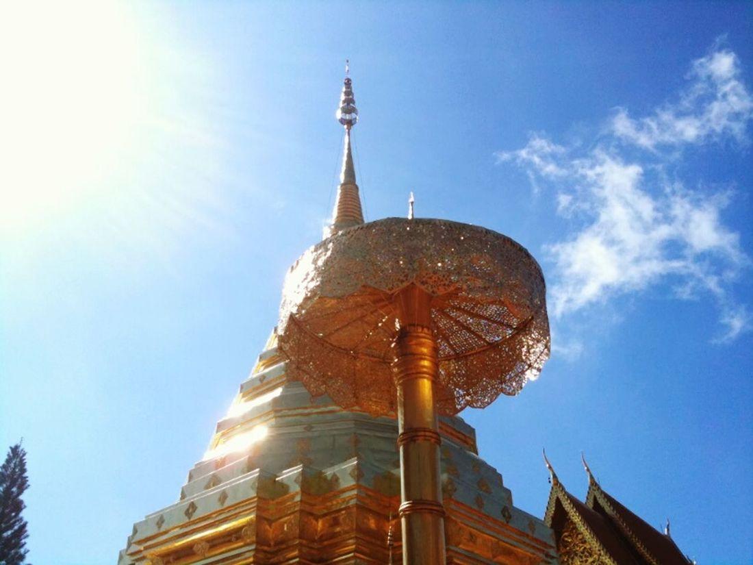 Phathat Doi Suthep Phatthat Chaing Mai, Thailand Chaing Mai Skyblue Thai Culture