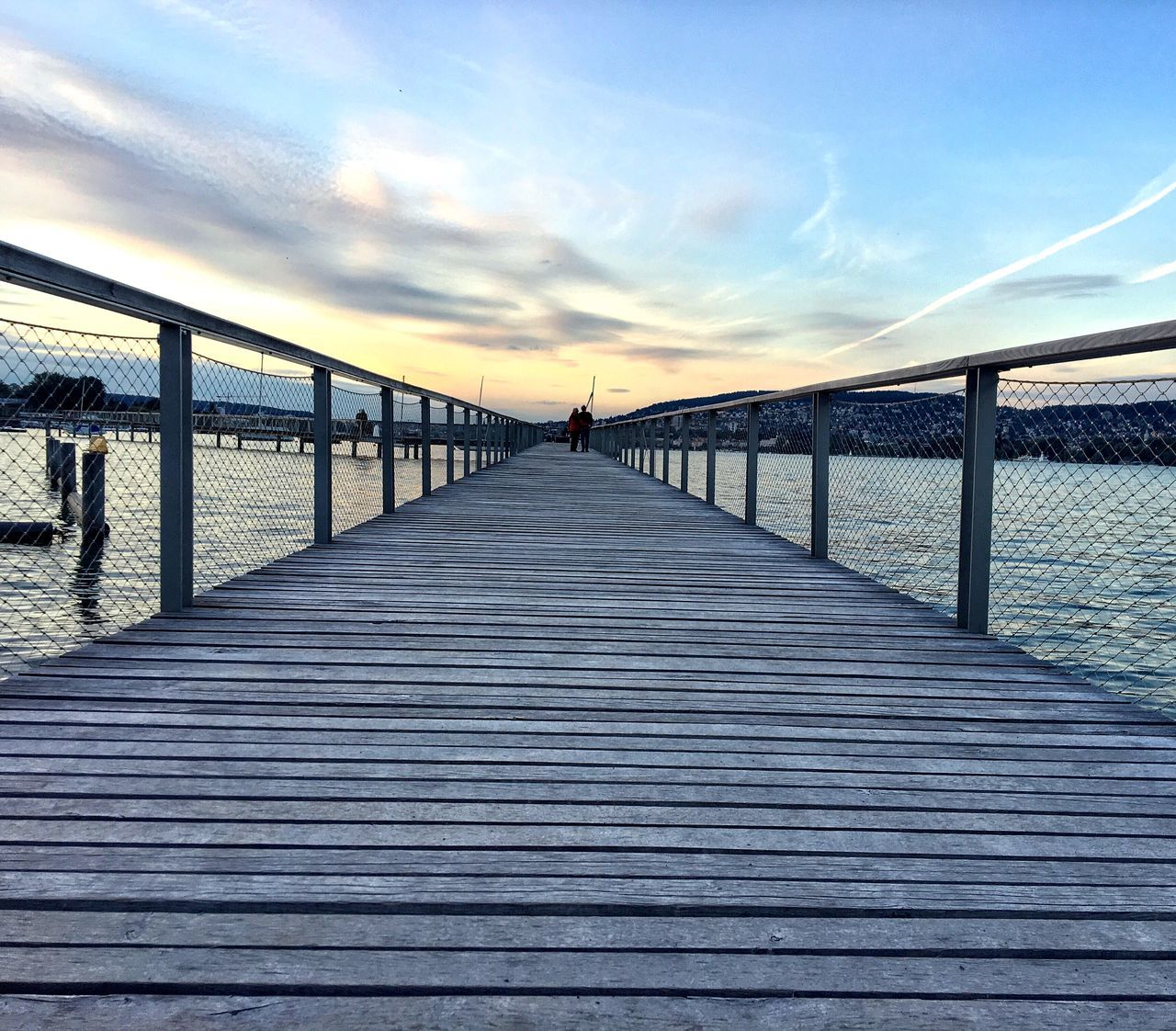 Sunset Outdoors Railing Water Boardwalk The Way Forward Sky Nature Bridge - Man Made Structure Day Sea Switzerland Zürich No People Architecture