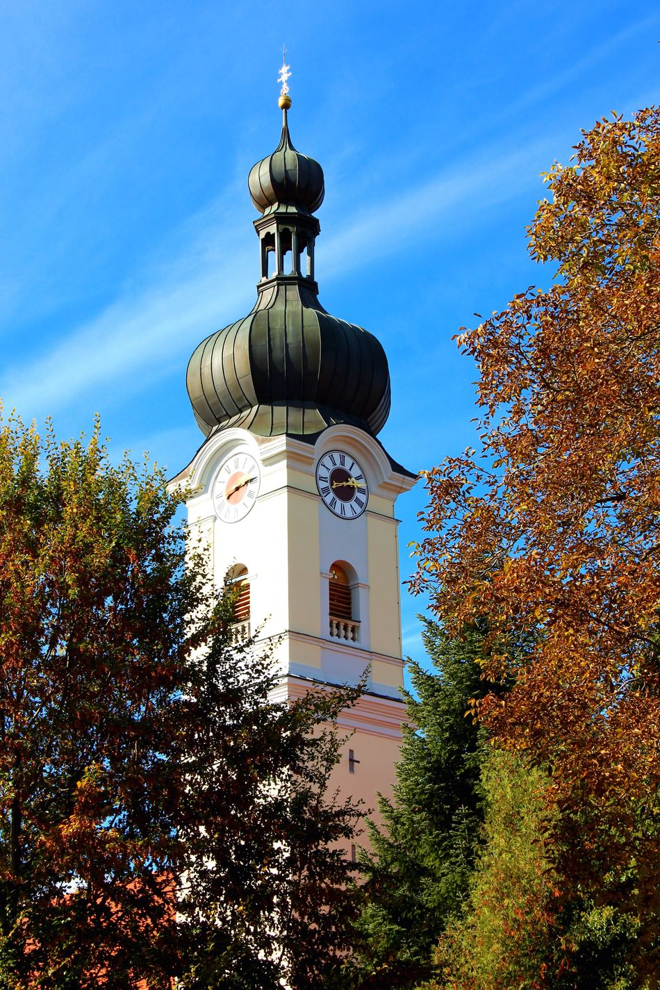 Tree Religion Architecture Built Structure Sky Building Exterior No People Place Of Worship Spirituality Outdoors Flower Nature Day Low Angle View Murnau Catch The Moment Catch The Instant... Murnau Am Staffelsee Chirch Kirche Autumn Autumn Colors Autumn Collection Nature Photography Nature_collection