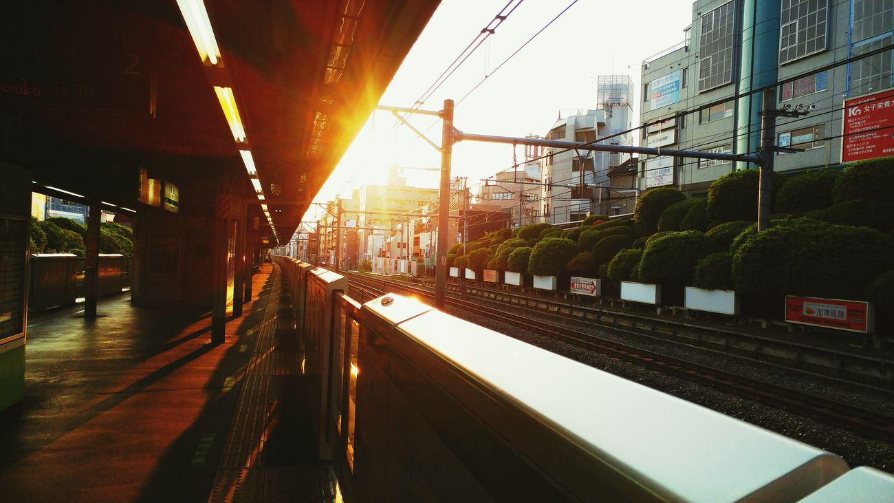 JR Line Tokyo Japan Sunrise Early Morning Subway Station Train Subway