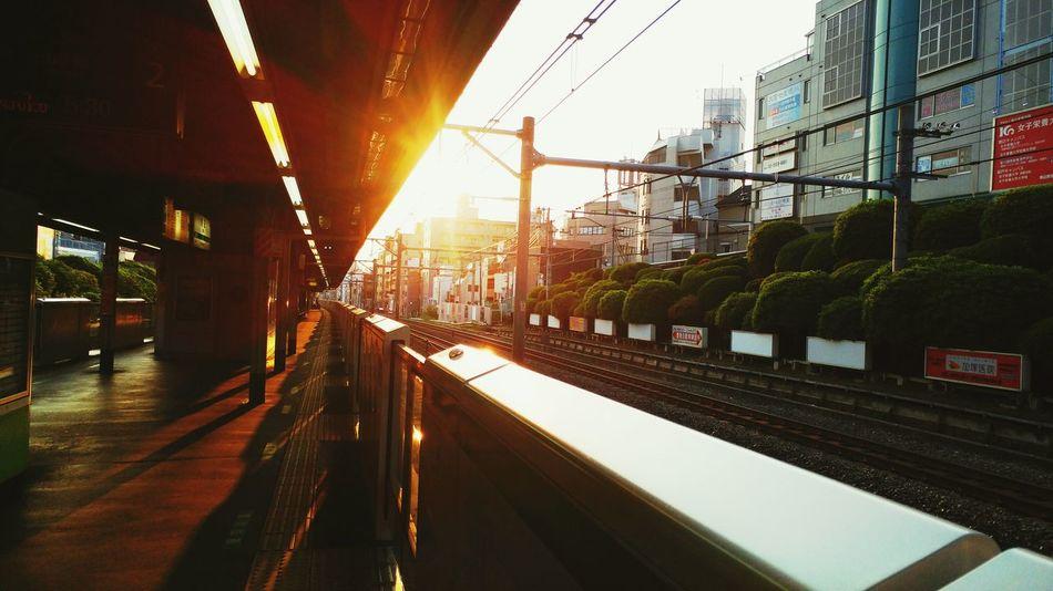 JR Line Tokyo Japan Sunrise Early Morning Subway Station Train Subway