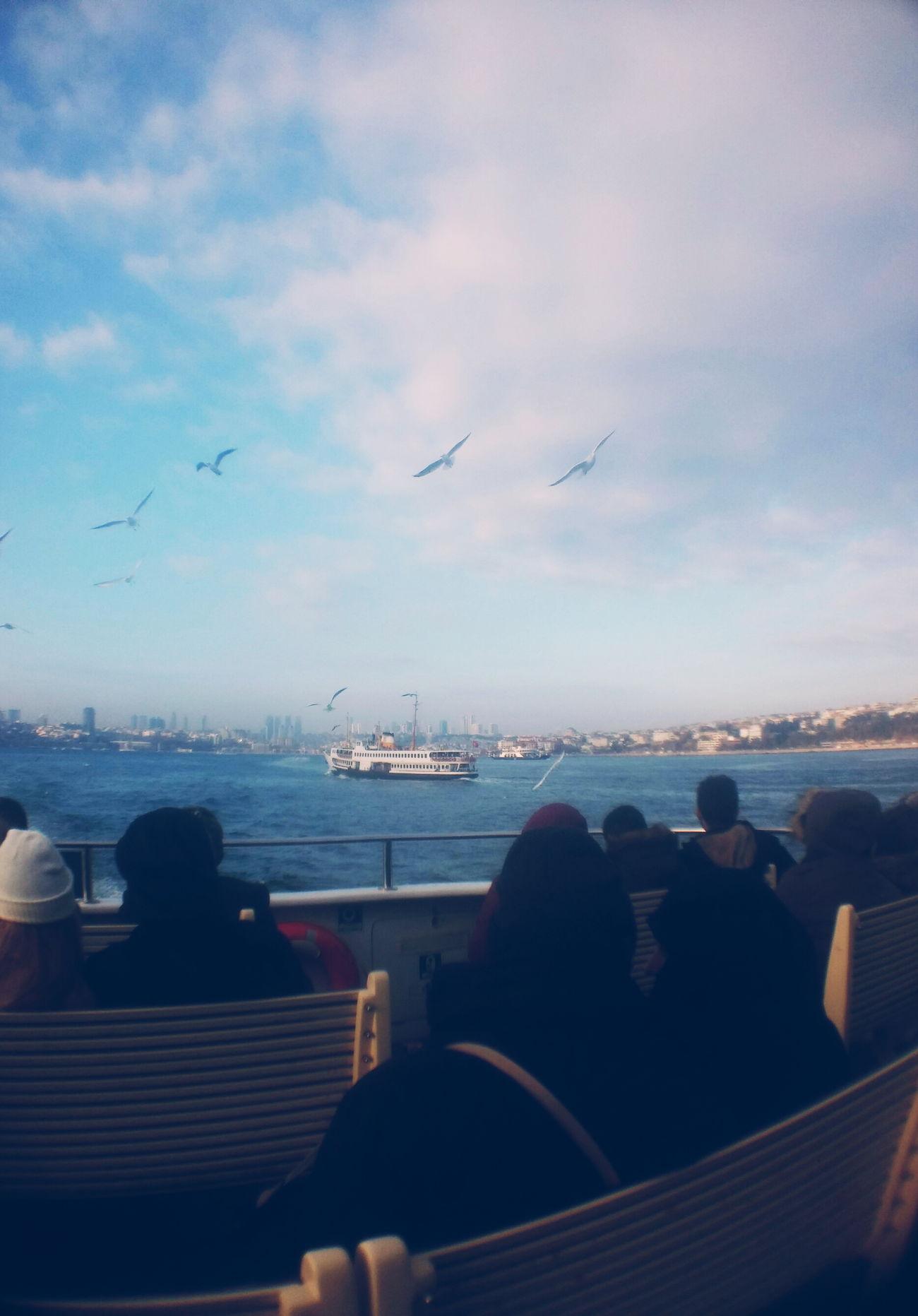 Vapuring Eminönü Kadıköy Vapuru Sea Seagulls Sky People Clouds Cityscape Nitenite VSCO Vscoistanbul Vscocam