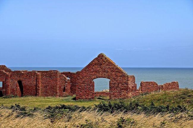 Blue Clear Sky Pembrokeshire Pembrokeshire Coast Ruin Scenics Sea Tranquil Scene Tranquility