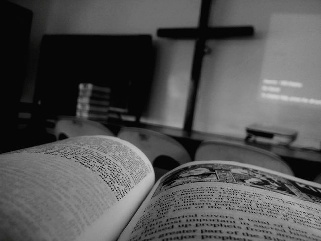 Blackandwhite Religious Education Recollection Bible Focused