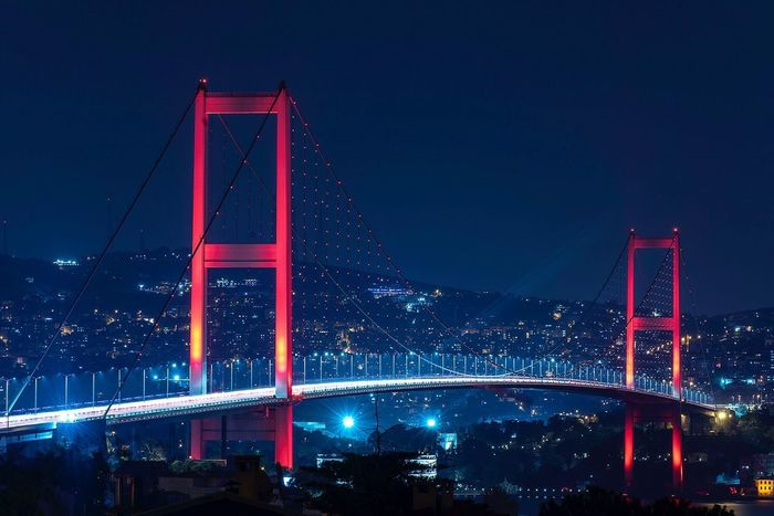 Bosphorus Bridge, Istanbul, Turkey Istanbul Bosphorus Bridge Turkey Long Exposure Night Blue Sky Boğaziçi Istanbul Turkey Istanbullovers Istanbulcity