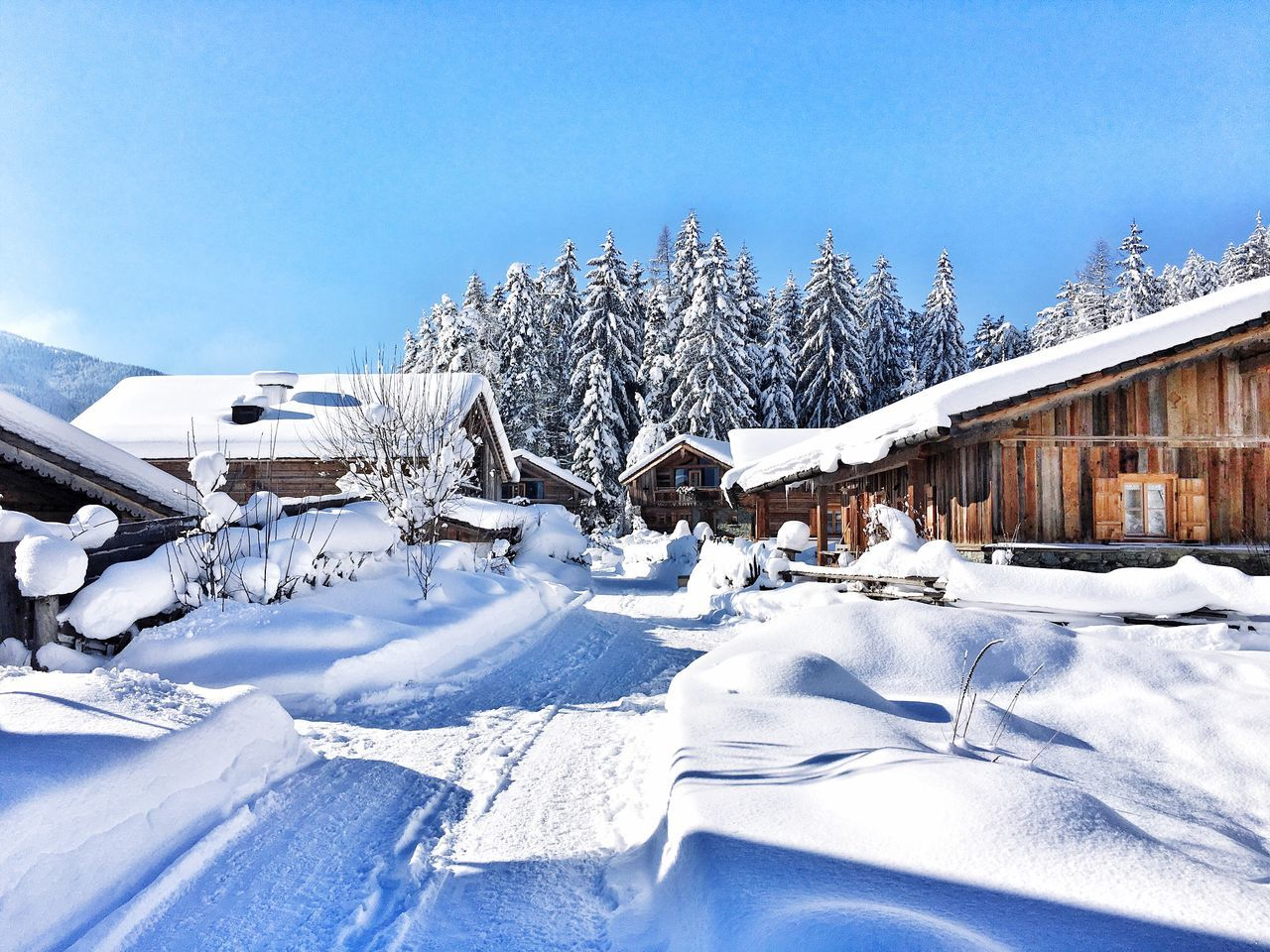 Snow Winter Cold Temperature Weather Day House Outdoors Built Structure No People Building Exterior Architecture Nature Sky Idyllic Cosy Chalet Cottage Winter Wonderland