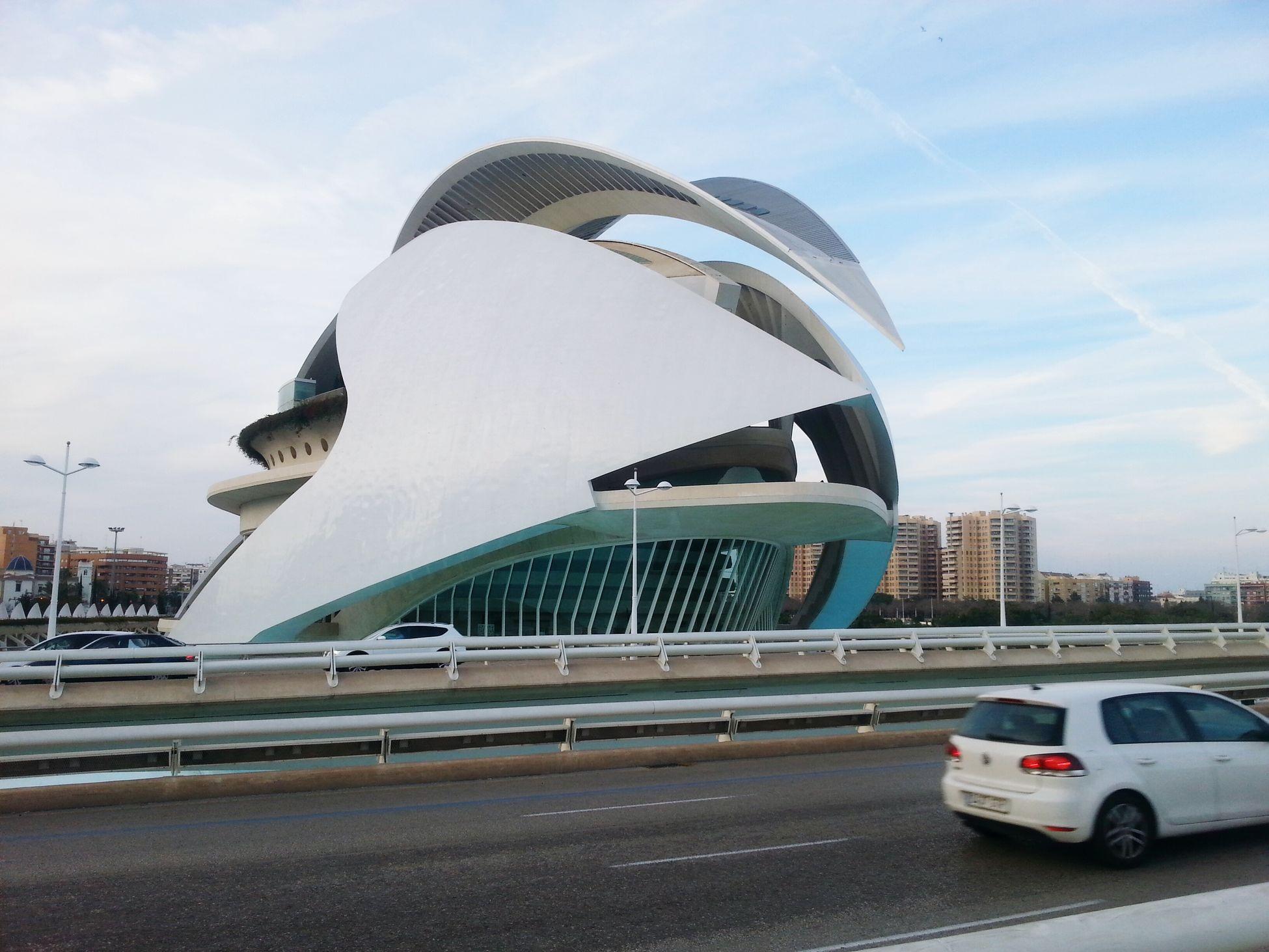 New Year Around The World OZN Castel. Modern Art. Valencia. Spain.