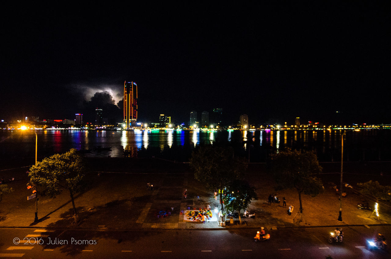 Architecture Building City City Cityscape Cityscapes Dusk Dusk In The City Illuminated Lighting Equipment Night Outdoors River Riverside Sky Vietnam Nikon D7000 Sigma10-20 Nikonphotography Nikon