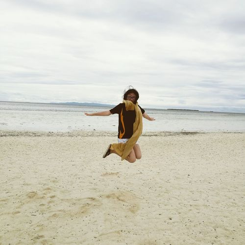 Jump high! Horizon Over Water Nature Bohol Philippines