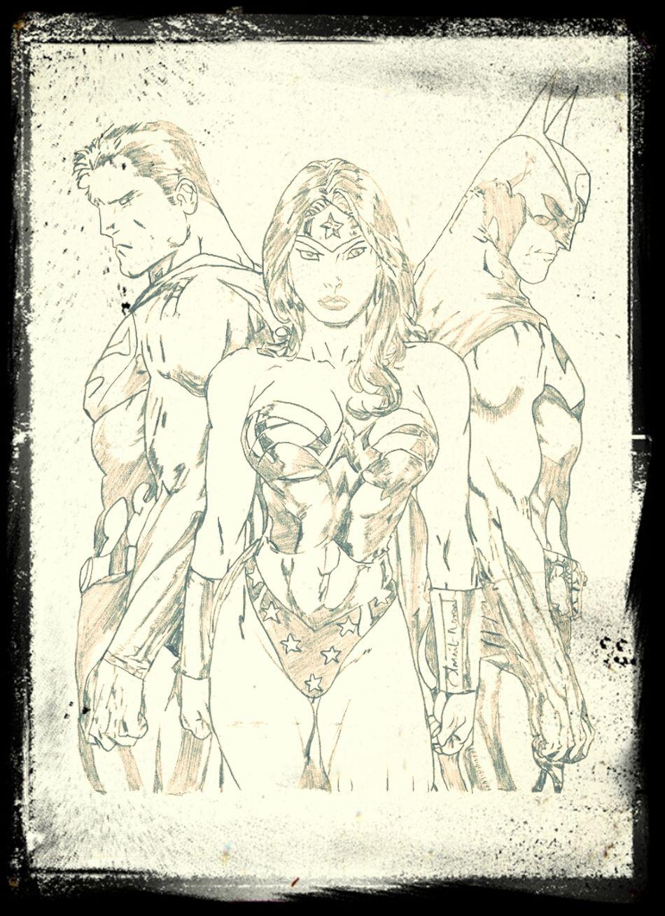 Justice league :-) Forming The League Of Justice Superman Batman Comics Wonder Woman DC Comics