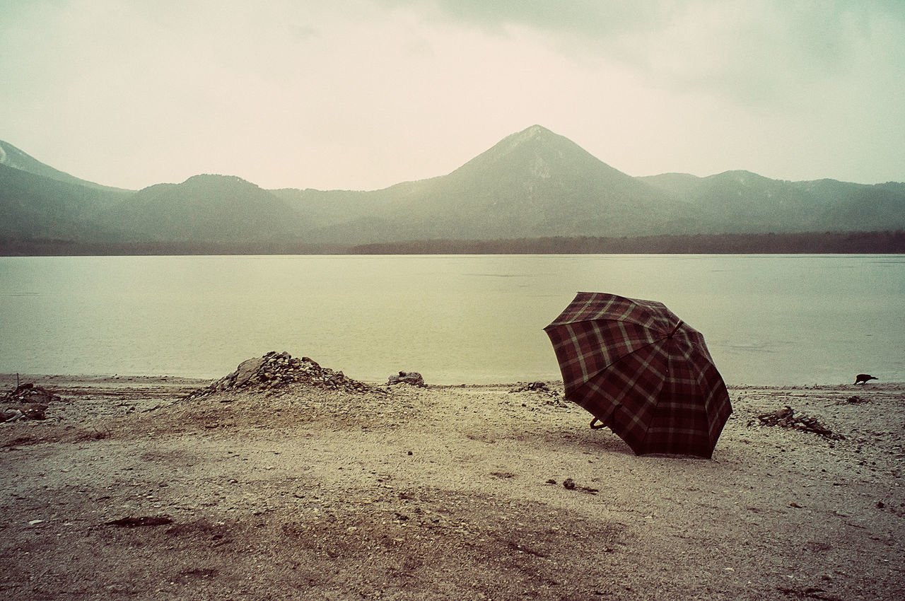 Mt.Osore Osorezan Lake Usori Beach Gokuraku Beach Umbrella Paradise Ricoh GXR Super Angulon 21mm F/3.4 Rain