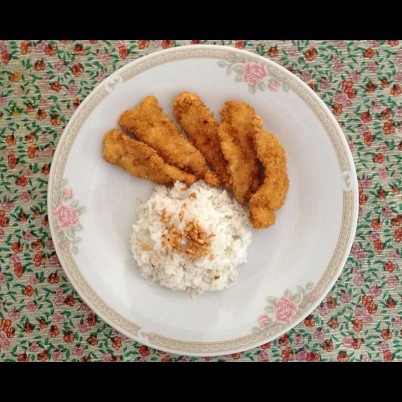 Breakfast for today. Chickenfillet