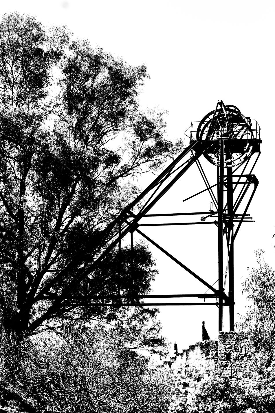 Amusement Park Amusement Park Ride Arts Culture And Entertainment Clear Sky Day Linares Low Angle View Minas Minas De Linares Minería Minería De Linares Mining Mining Heritage Mining Industry Mining Town Nature No People Outdoors Ride Sierra Morena Sky Tree Water Slide