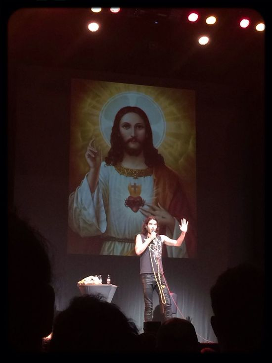 This was quite an experience to see Russell Brand on stage yesterday!