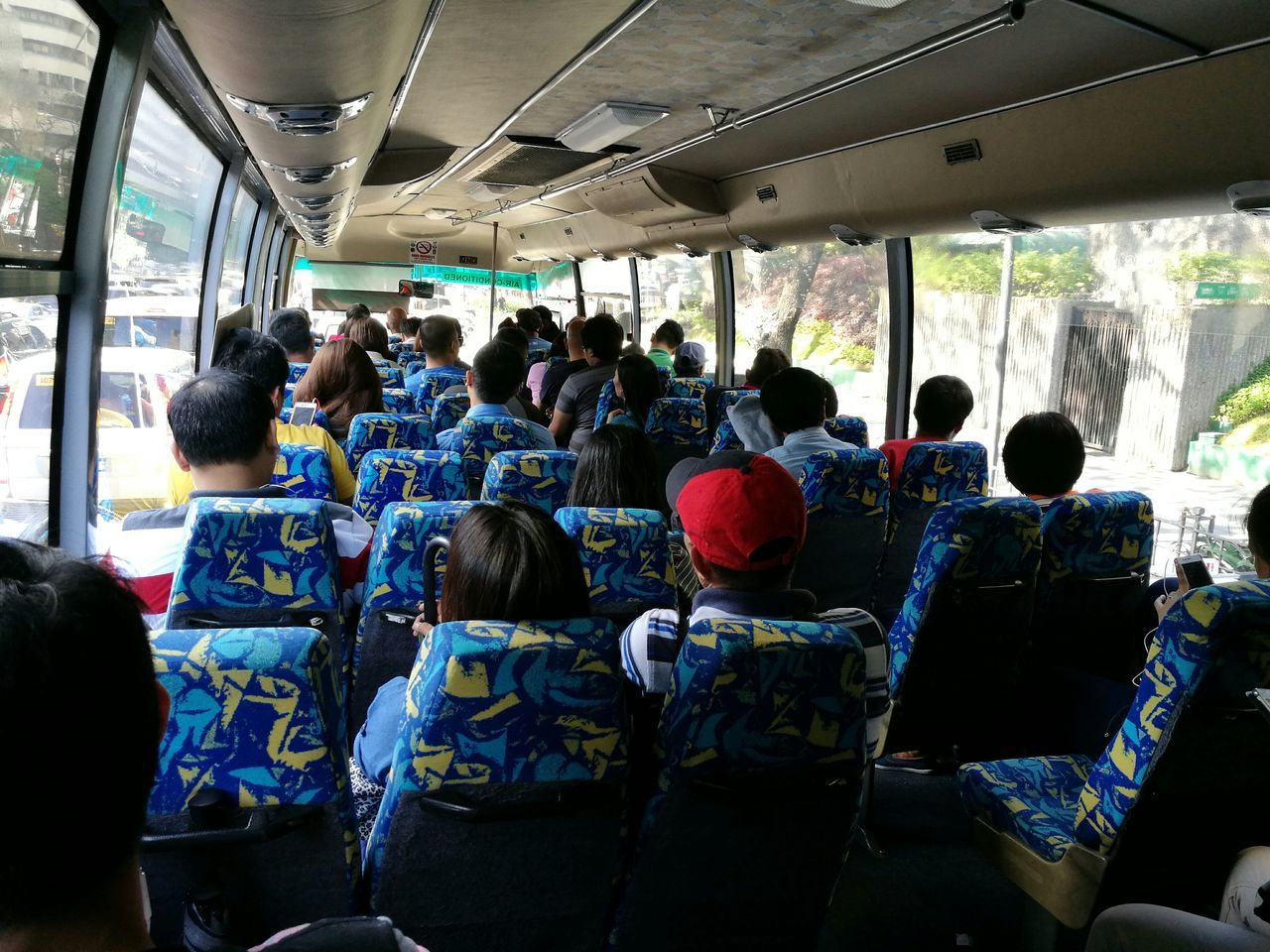 Normal bus mode.. Transportation Mode Of Transport Vehicle Interior Large Group Of People Travel Passenger Land Vehicle Air Vehicle Public Transportation Crowd Adults Only Vehicle Seat Airplane Seat Journey Adult Airplane People Day