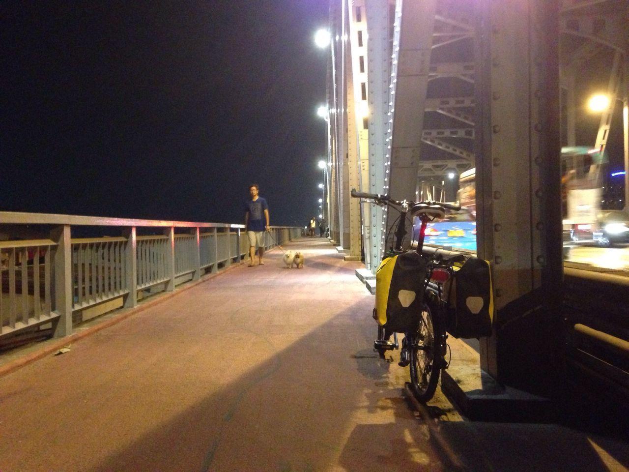 The Places I've Been Today Bangkok Thailand. Thonburi Bridge Bike To Work