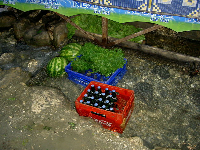 Chilled Cold Water Day Food Freshness Fruit High Angle View Nature No People Outdoors Saklikent Canyon Saklıkent National Park Turkey Watermelon