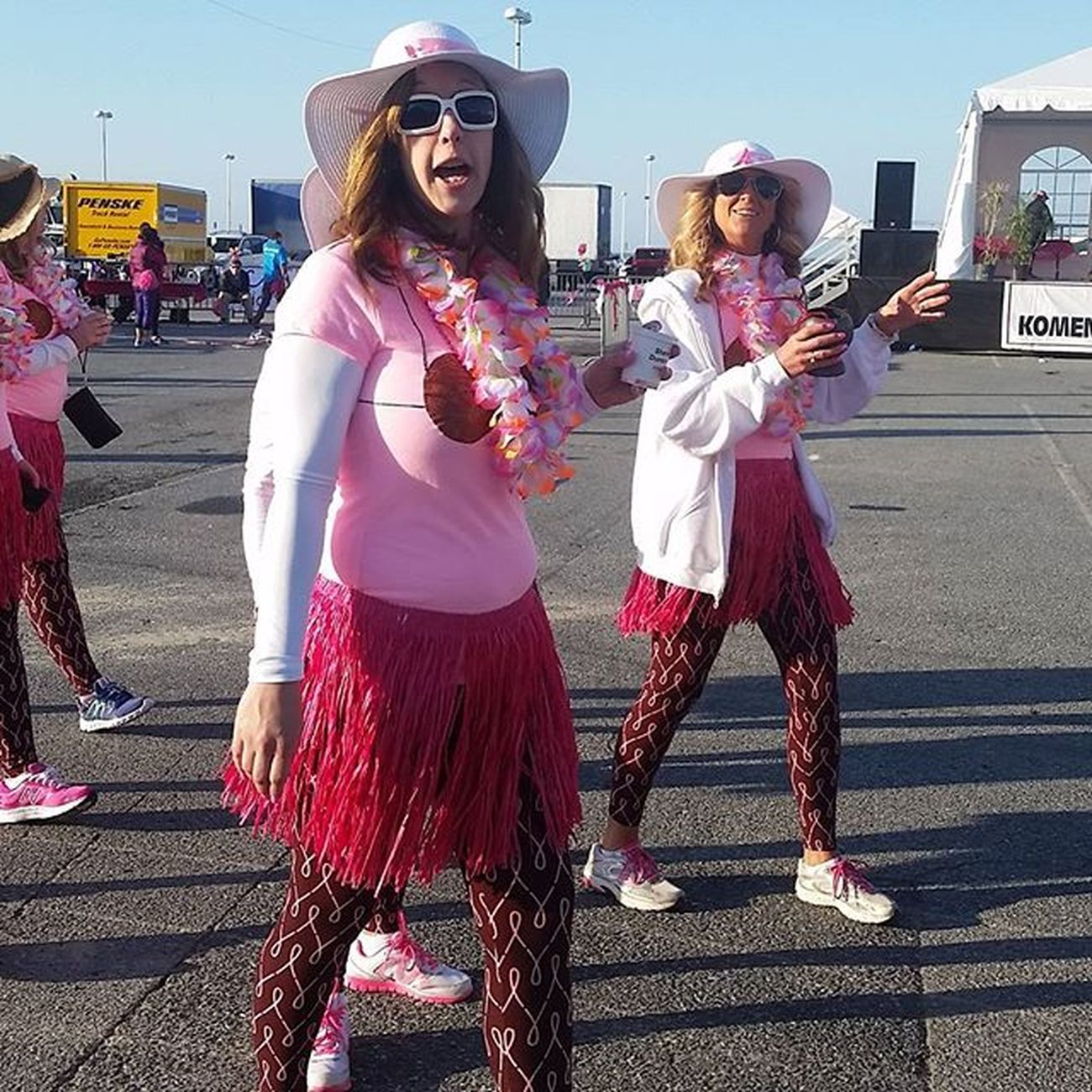 The Coconuts ready to run at the Komen Race for the Cure... Oceancitycool OceanCity Maryland Ocmd Onestepcloser