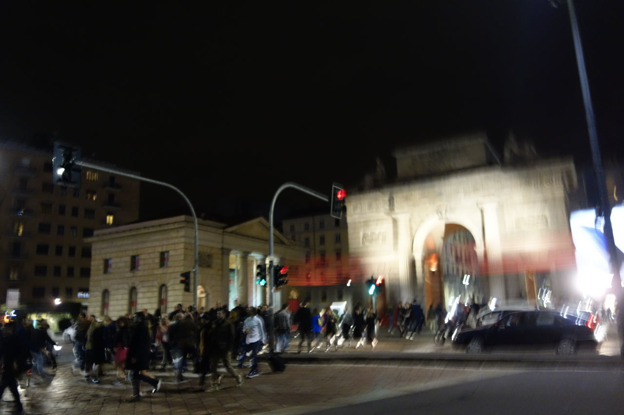 Milano City City Life City Street Crossroads EyeEm Italy Illuminated Lamp Life Milanocity Night Outdoors People People Walking  Road Street Streetphotography Transportation Walk Walking Around The City