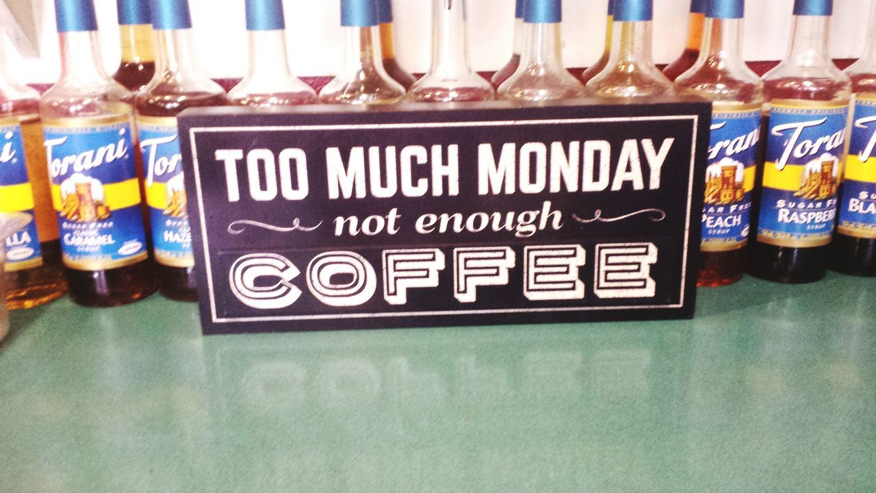 Coffee ☕ Case Of The Mondays Black Gold Barista Life Affairs With Coffee