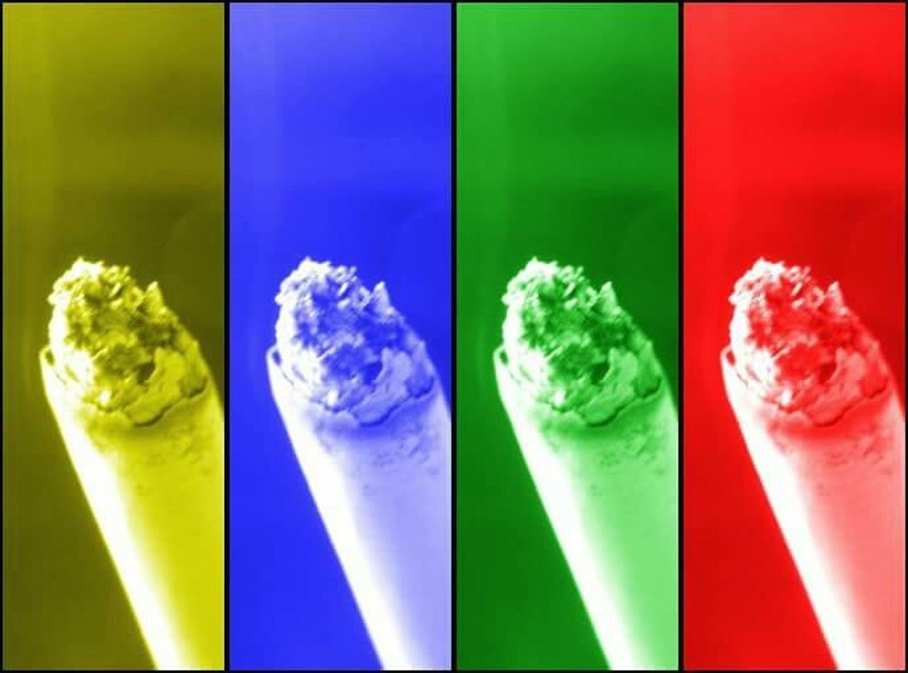 In A Row Variation No People Multiple Image Color Colorful Multicolor Cigarette  Smoke Ashes