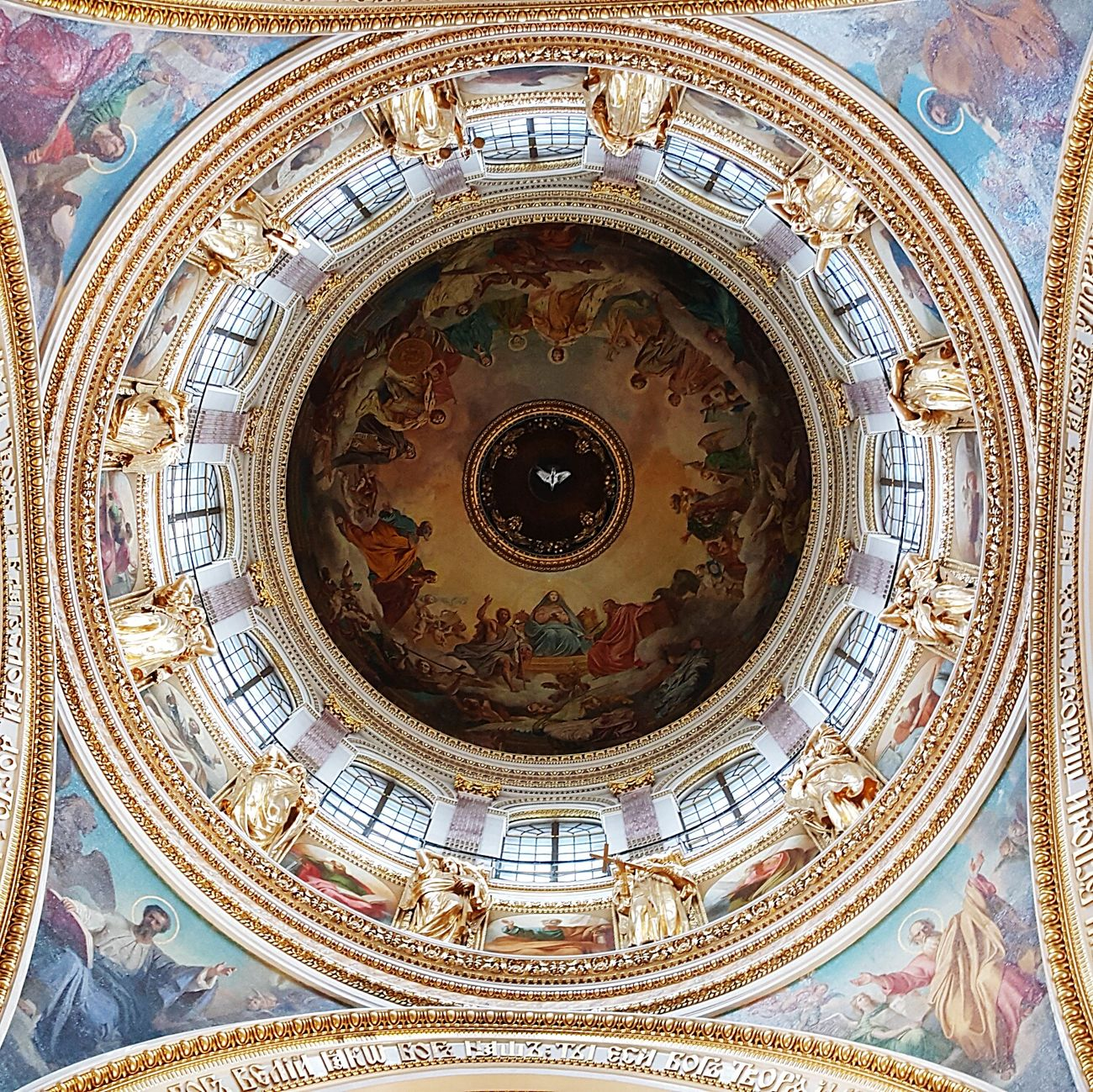 Isaac's Cathedral Architectural Feature Architecture Ceiling Low Angle View Built Structure Architectural Feature Indoors  Religion Cathedral Ornate Directly Below Design Arch Place Of Worship Church Architectural Design Culture Dome Architecture And Art History Full Frame Saint-Petersburg Anichkov Bridge Memories