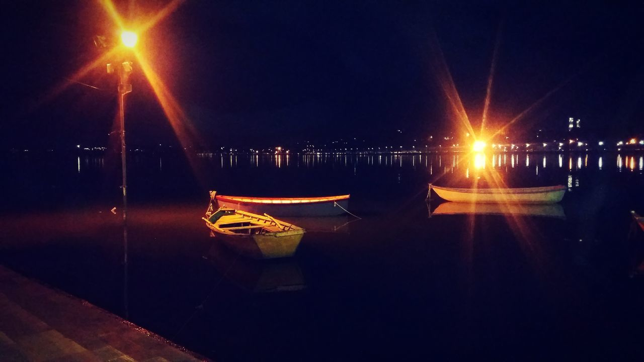 Reflection Illuminated Night Water No People Beauty In Nature Outdoors Sky Nature Boats⛵️ Lake View Lakesideview Outdoors❤ Mobile Photography Light And Shadow Outdoor Photography Outdoor Life Outdoorlife Beauty In Nature Tranquility Scenics