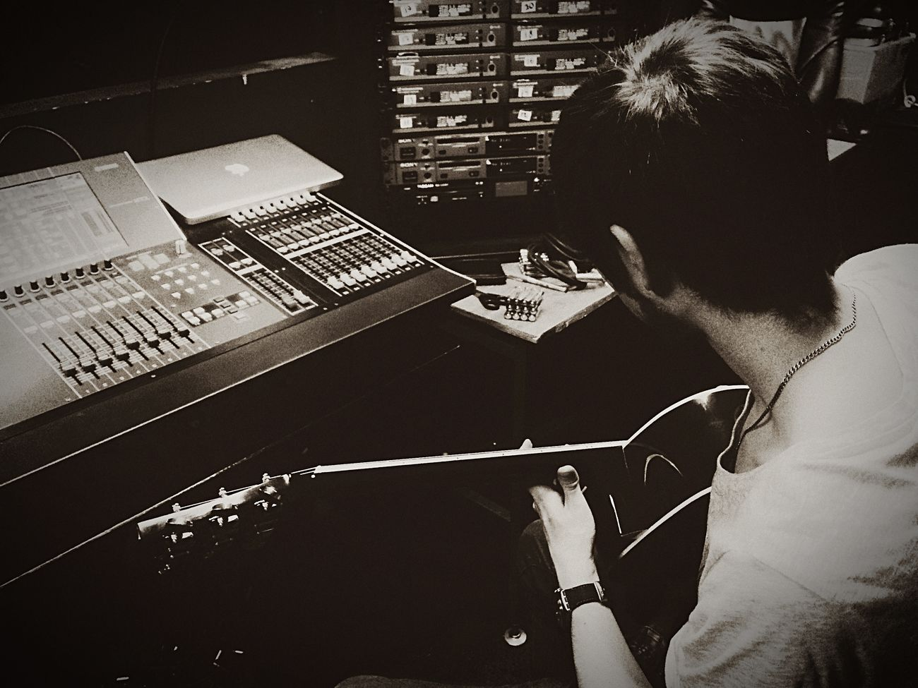 Theater Atwork Guitar Yamaham7cl Sound Soundengineer First Eyeem Photo