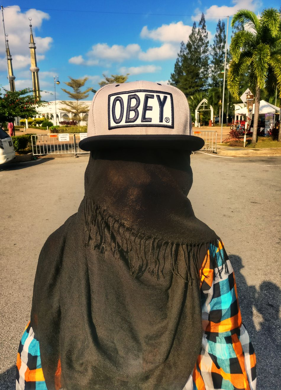 Potrait Outdoors Day One Person Sky City People Sunlight Cap OBEY Hijabstyle  Hijabfashion