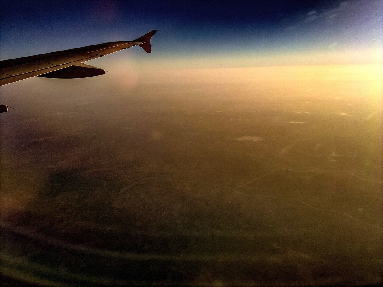 Airplane Aerial View Transportation Landscape Nature Airplane Wing Journey Scenics Flying Sky Mode Of Transport Aeroplane Beauty In Nature Aircraft Wing Aircraft Tranquility No People Tranquil Scene Sunset Air Vehicle