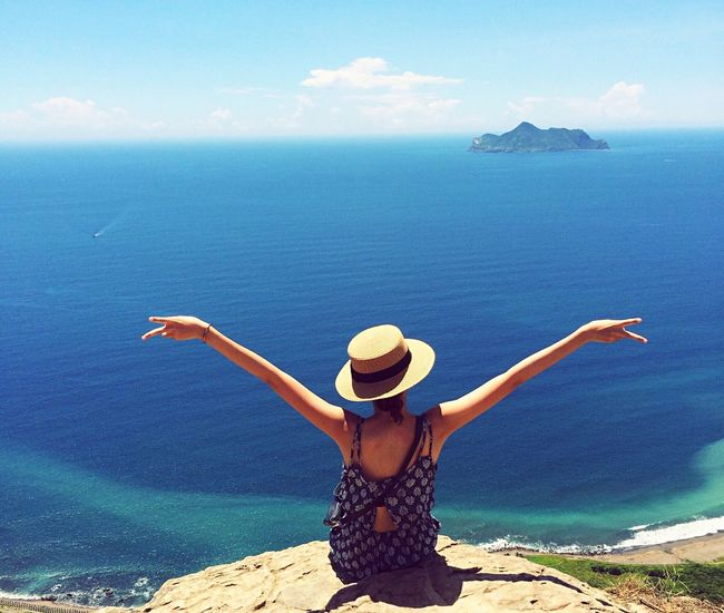 Check This Out Hanging Out That's Me Hello World Taking Photos Enjoying Life Hi! ☀☀☀ Beautiful Sea And Sky Summer Taiwan Blue Ilan