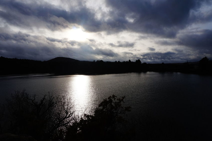 Reflection Sky Skyporn Cloud And Sky Light And Shadow Sunrays Water Reflections Lake View Gour De Tazenat Iloveauvergne December2016 Winter Auvergne