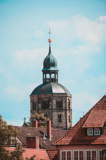 Architecture Building Exterior Built Structure Cloud - Sky Day Dome Hameln No People Outdoors Place Of Worship Roof Sky Tiled Roof