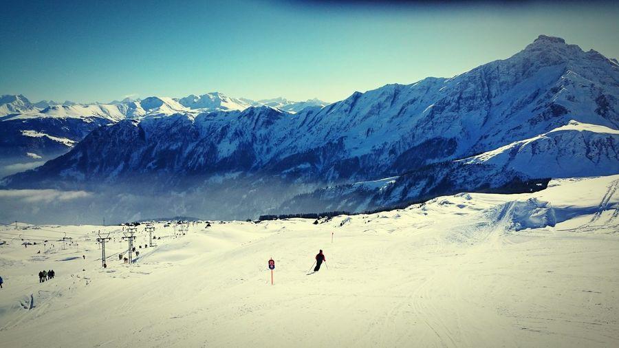 Skiing Snow Mountain View First Eyeem Photo Switzerland Graubünden