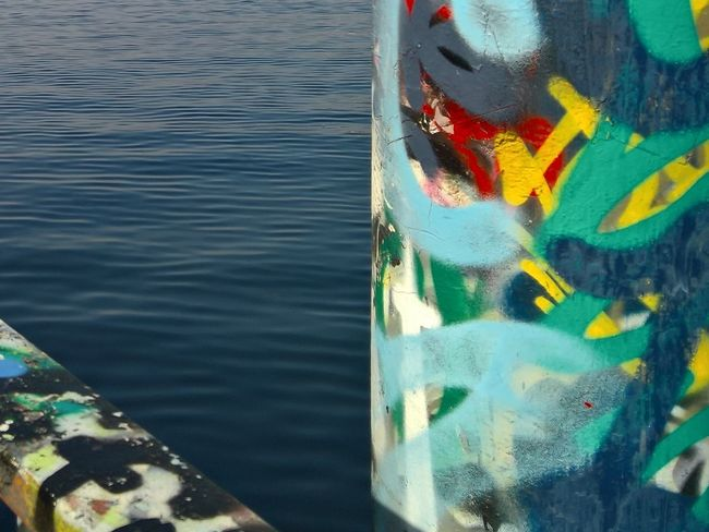 Art And Craft City Life Creativity Culture Zürich Zurich, Switzerland Lake Of Zurich Water Waterfront Horizon Over Water Detail Colors Colorful Graffiti Street Art Rote Fabrik Pier Crane Streetphotography The Great Outdoors With Adobe The Architect - 2016 EyeEm Awards